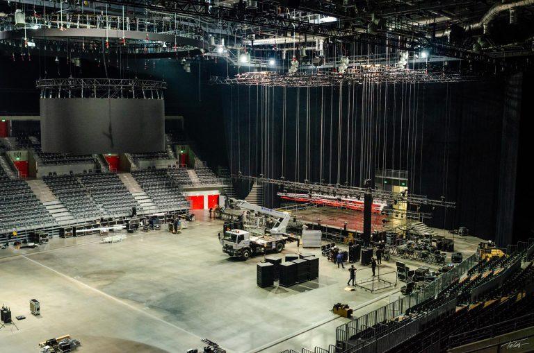 Przygotowania do koncertu w Gliwicach na systemie koncertowym Fohhn Focus Venue