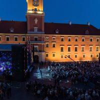 Plac Zamkowy w Warszawie - przed koncertem